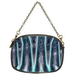 Blue Turquoise Zigzag Pattern Chain Purses (One Side)