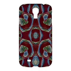 Fancy Maroon Blue Design Samsung Galaxy S4 I9500/I9505 Hardshell Case