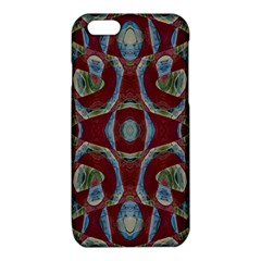 Fancy Maroon Blue Design iPhone 6/6S TPU Case