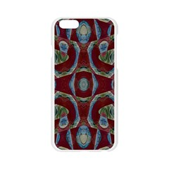 Fancy Maroon Blue Design Apple Seamless iPhone 6/6S Case (Transparent)