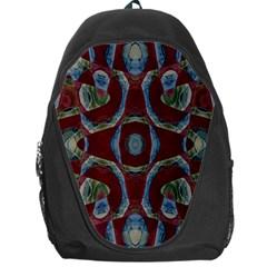 Fancy Maroon Blue Design Backpack Bag
