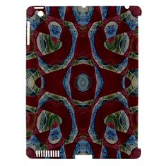 Fancy Maroon Blue Design Apple iPad 3/4 Hardshell Case (Compatible with Smart Cover)