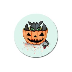 Halloween Dragon Magnet 3  (Round)
