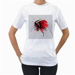 Savages Women s T-Shirt (White) (Two Sided)