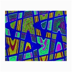Bright Blue Mod Pop Art  Small Glasses Cloth (2-Side)