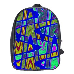 Bright Blue Mod Pop Art  School Bags (XL)
