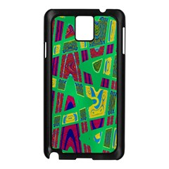 Bright Green Mod Pop Art Samsung Galaxy Note 3 N9005 Case (Black)