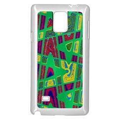 Bright Green Mod Pop Art Samsung Galaxy Note 4 Case (White)