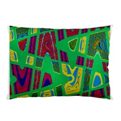Bright Green Mod Pop Art Pillow Case