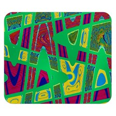 Bright Green Mod Pop Art Double Sided Flano Blanket (Small)