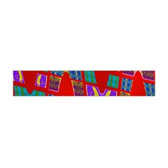 Bright Red Mod Pop Art Flano Scarf (Mini)