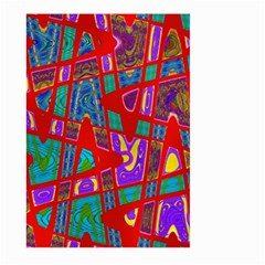 Bright Red Mod Pop Art Large Garden Flag (Two Sides)