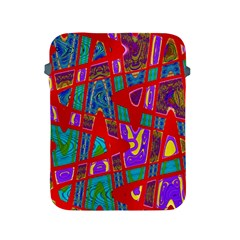 Bright Red Mod Pop Art Apple iPad 2/3/4 Protective Soft Cases
