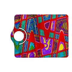 Bright Red Mod Pop Art Kindle Fire HD (2013) Flip 360 Case