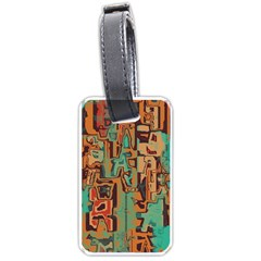 Brown green texture                              			Luggage Tag (one side)