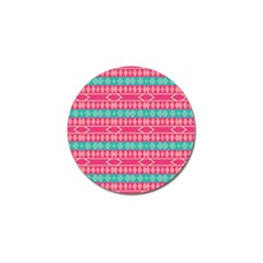 Pink blue rhombus pattern                               			Golf Ball Marker (4 pack)