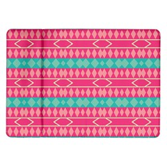 Pink blue rhombus pattern                               Samsung Galaxy Tab 10.1  P7500 Flip Case