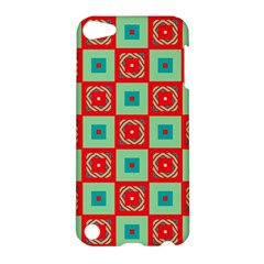 Blue red squares pattern                                			Apple iPod Touch 5 Hardshell Case