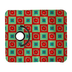 Blue red squares pattern                                Samsung Galaxy S III Flip 360 Case