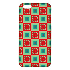 Blue red squares pattern                                			iPhone 6 Plus/6S Plus TPU Case