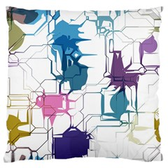 Cracked wall                                 	Large Flano Cushion Case (Two Sides)