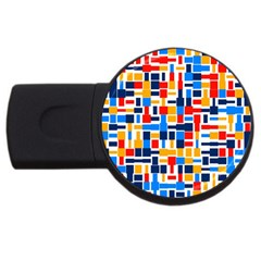 Colorful shapes                                  			USB Flash Drive Round (1 GB)