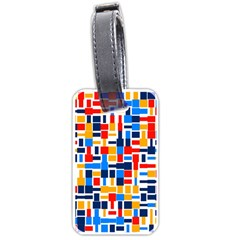 Colorful Shapes                                  luggage Tag (one Side)