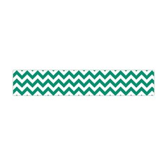 Emerald Green & White Zigzag Pattern Flano Scarf (mini)