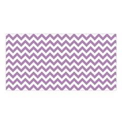 Lilac Purple & White Zigzag Pattern Satin Shawl