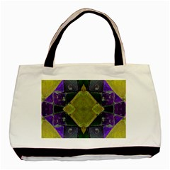 Purple Yellow Stone Abstract Basic Tote Bag
