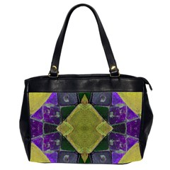 Purple Yellow Stone Abstract Office Handbags (2 Sides)