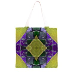 Purple Yellow Stone Abstract Grocery Light Tote Bag
