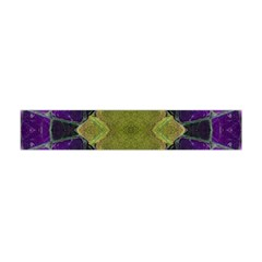 Purple Yellow Stone Abstract Flano Scarf (Mini)