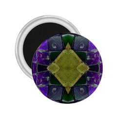 Purple Yellow Stone Abstract 2.25  Magnets