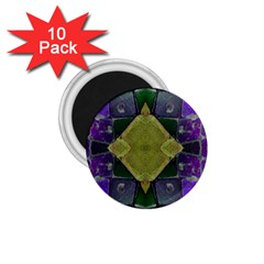 Purple Yellow Stone Abstract 1 75  Magnets (10 Pack)