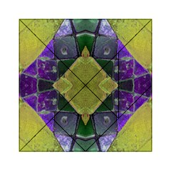 Purple Yellow Stone Abstract Acrylic Tangram Puzzle (6  x 6 )