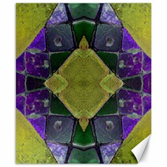 Purple Yellow Stone Abstract Canvas 8  x 10