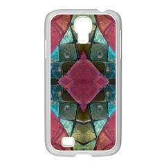 Pink Turquoise Stone Abstract Samsung GALAXY S4 I9500/ I9505 Case (White)