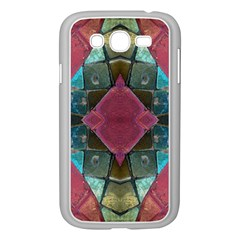Pink Turquoise Stone Abstract Samsung Galaxy Grand DUOS I9082 Case (White)