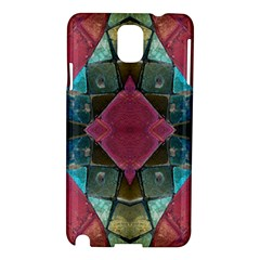 Pink Turquoise Stone Abstract Samsung Galaxy Note 3 N9005 Hardshell Case