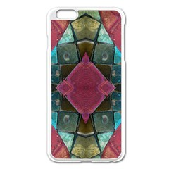 Pink Turquoise Stone Abstract Apple iPhone 6 Plus/6S Plus Enamel White Case