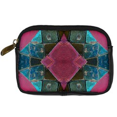 Pink Turquoise Stone Abstract Digital Camera Cases