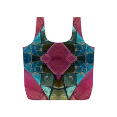 Pink Turquoise Stone Abstract Full Print Recycle Bags (S)