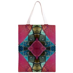Pink Turquoise Stone Abstract Classic Light Tote Bag