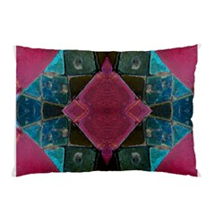 Pink Turquoise Stone Abstract Pillow Case