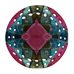 Pink Turquoise Stone Abstract Ornament (Round Filigree)