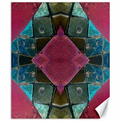 Pink Turquoise Stone Abstract Canvas 20  x 24