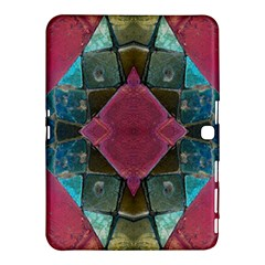 Pink Turquoise Stone Abstract Samsung Galaxy Tab 4 (10.1 ) Hardshell Case