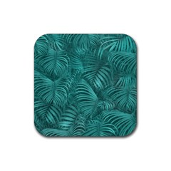 Tropical Hawaiian Pattern Rubber Square Coaster (4 pack)