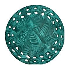 Tropical Hawaiian Pattern Ornament (Round Filigree)